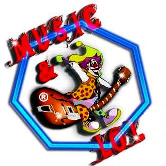 Logo Music and Lol montrant un clown sur une guitare. cliquer vous rend vers la page d'accueil